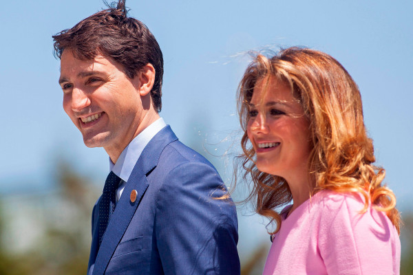 Prime Minister of Canada Justin Trudeau and his wife Sophie Gregoire Trudeau