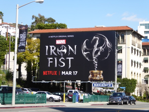 Iron Fist Netflix series billboard