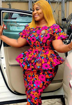 Nigerian Ankara Skirt and Blouse Styles for Ladies