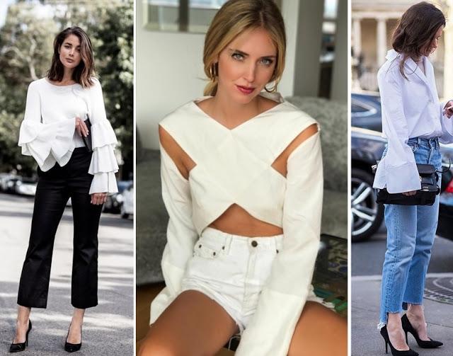 tendencias de moda primavera verão 2018 - camisa branca