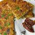 Omlet z ziemniakami, szynką i suszonymi pomidorami