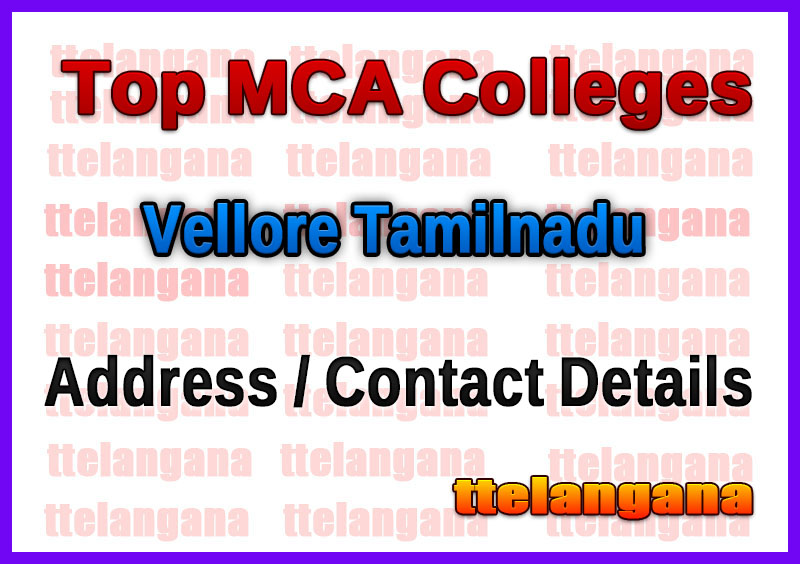 Top MCA Colleges in Vellore Tamilnadu