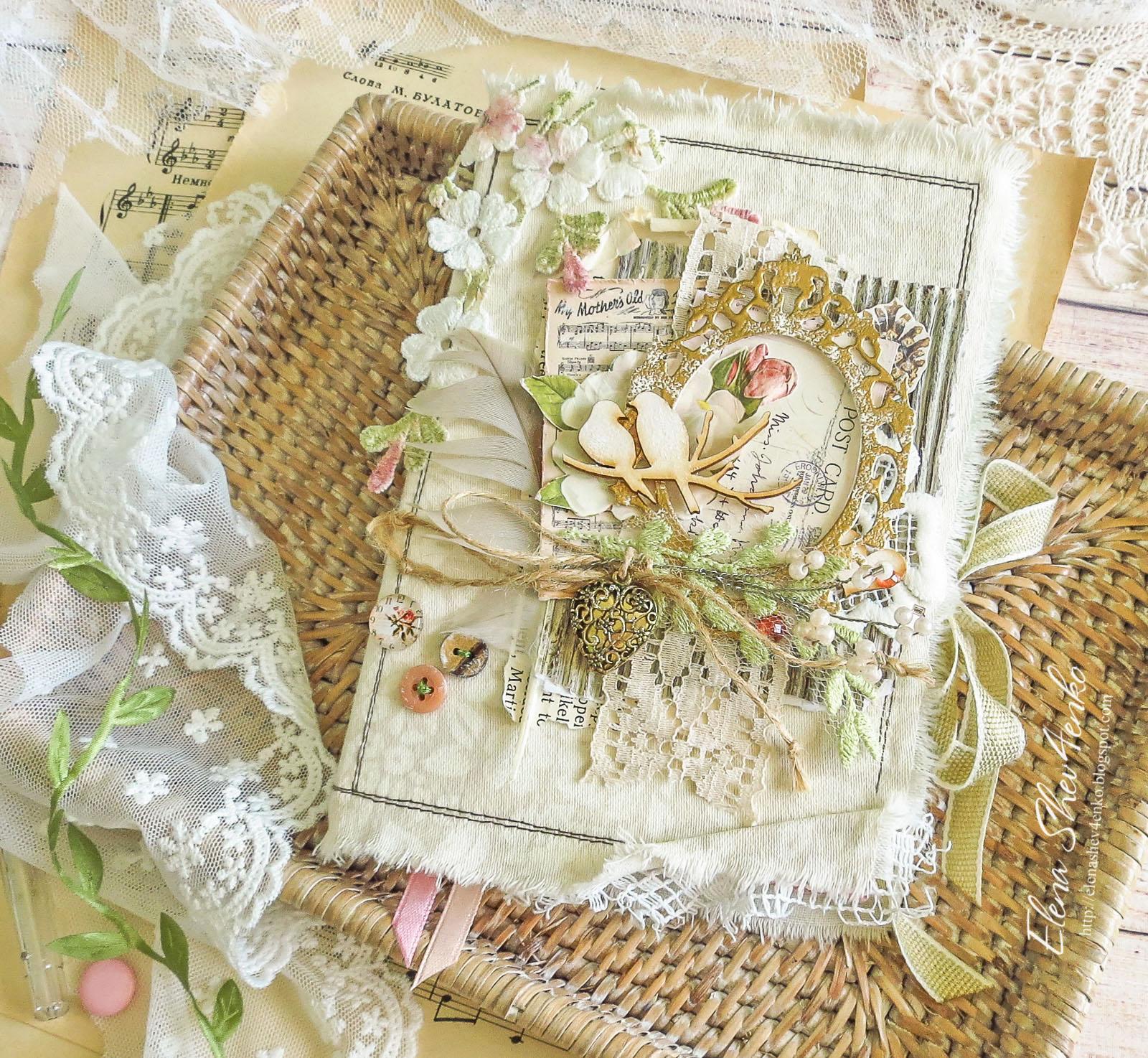 Блокнот для невесты, романтичный подарок, блокнот с птицами, подарунок коханій, подарок любимой, блокнот ручной работы, notebook handmade, allmacraft