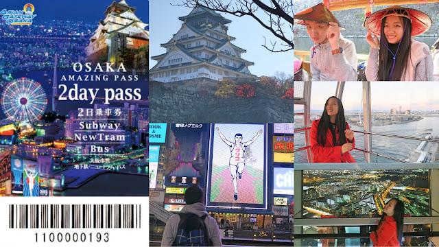 2 days Osaka amazing pass itinerary