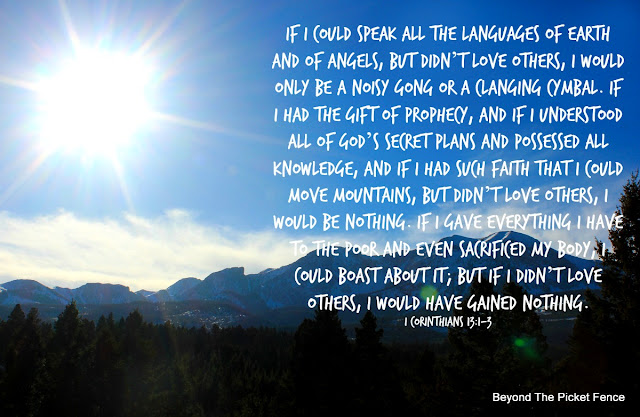 Bible verse about love and moving mountains