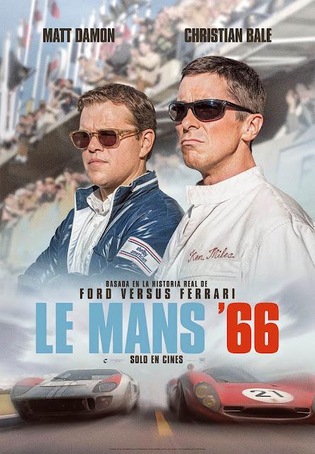 Matt Damon y Christian Bale en 'Le Mans 66', Póster