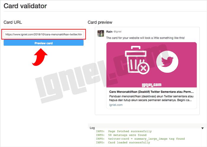 Cara Pasang Kode Meta Tag Twitter Card di Blogger