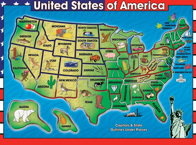 USA map symbols