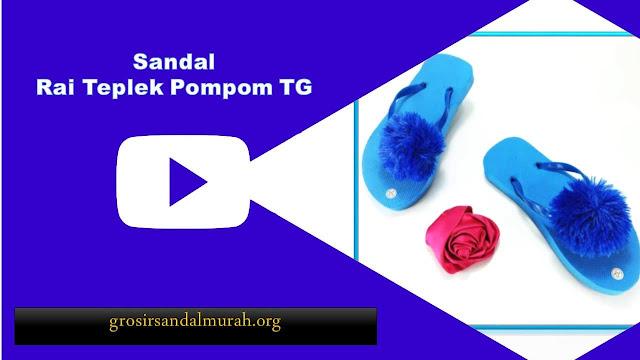 grosirsandalmurah.org-Sandal Anak TG- Rai Teplek Pompom TG