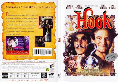 Hook: El capitán Garfio - Carátula dvd