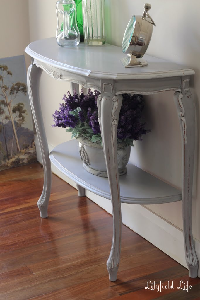Lilyfield Life Painted French Console Paris Grey With White Trim