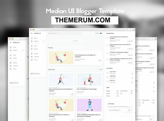 Median UI Responsive Blogger Template