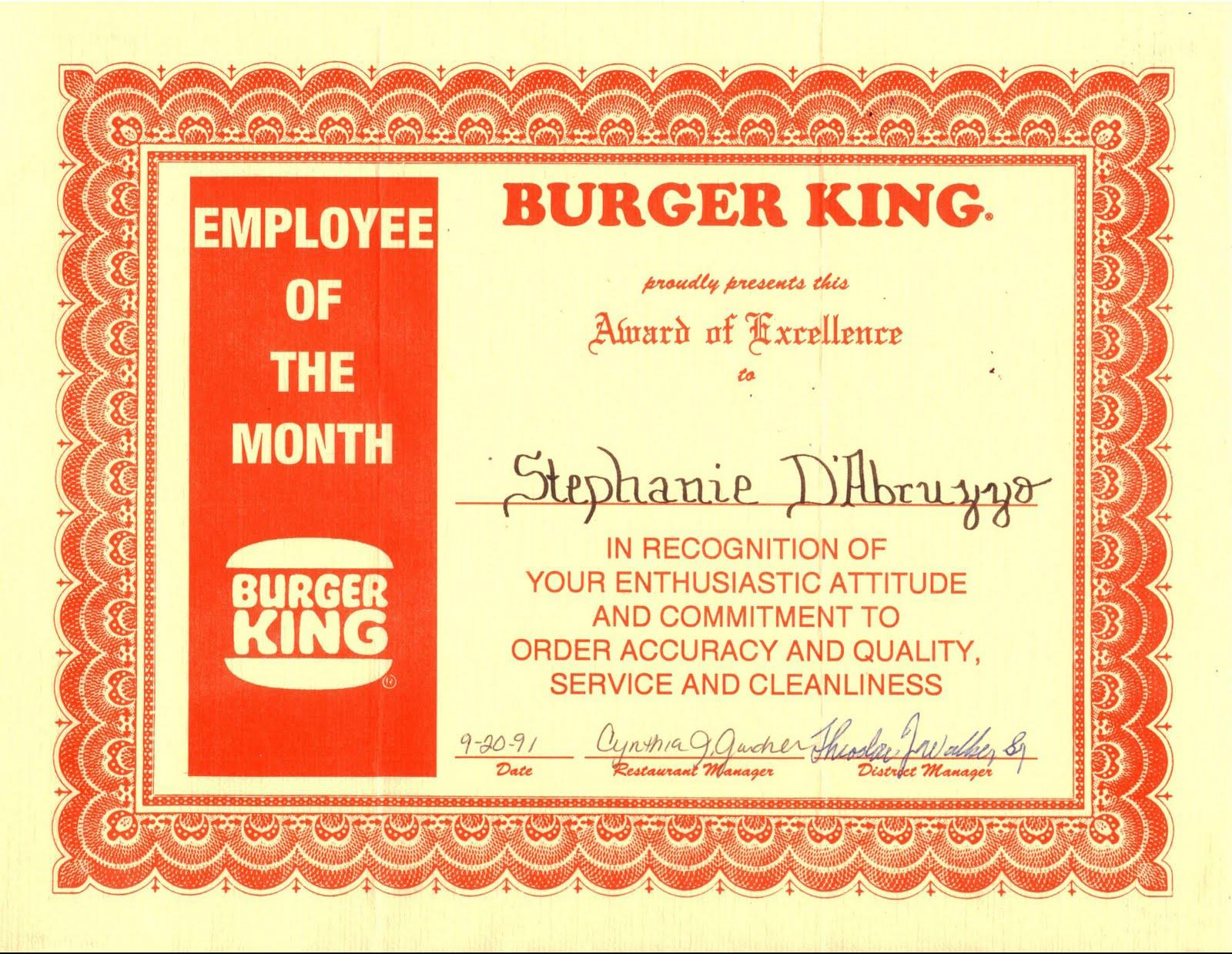 Web Blah Log Employee Of The Month