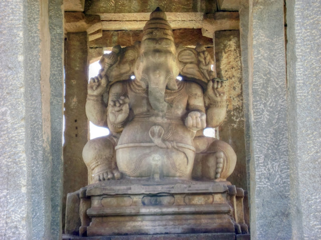 Sasive Kallu Ganesha Ancient Indian temple architecture -Hampi Pick, Pack, Go