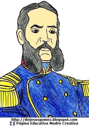 Andrés Avelino Cáceres pintado a color