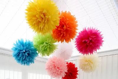 Tissue paper balloon - KMich Weddings