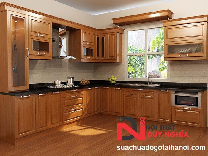 Nhận đóng tủ bếp gỗ tại Hà Nội