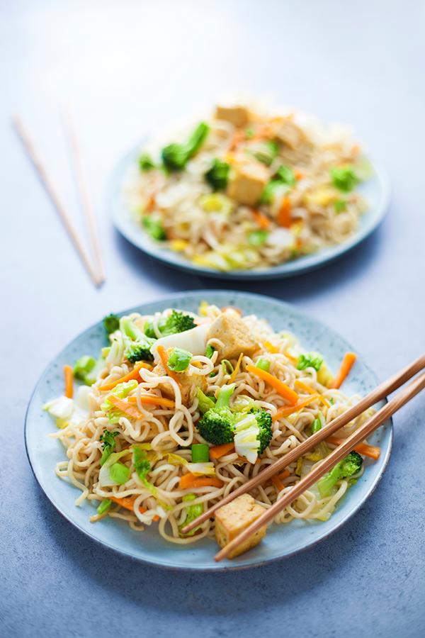 nouilles tofu recette vegan