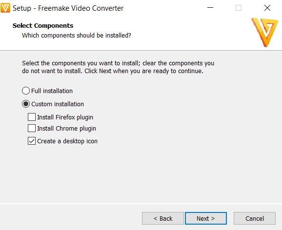 Freemake version 3.1.2 Custom Installation