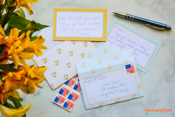 Yellow and Aqua Stationary