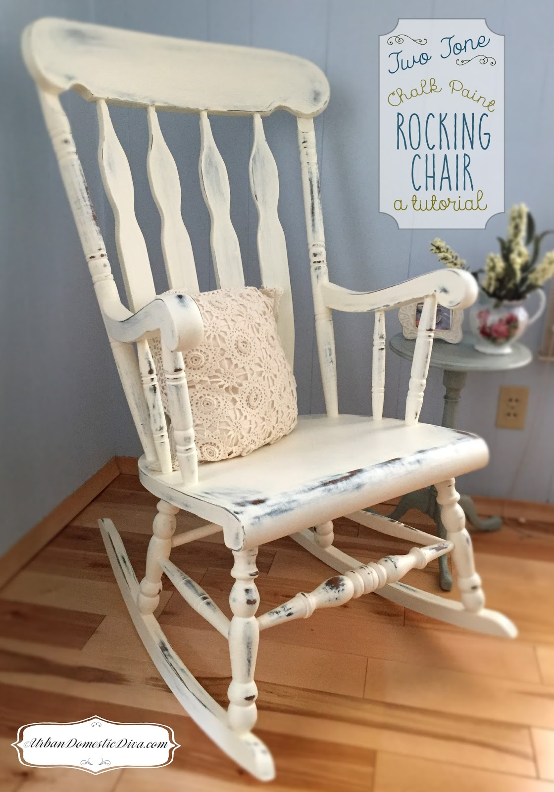 Crafts How To Refresh An Old Rocking Chair With Two Tone