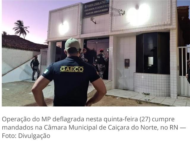 """Vereador é preso no interior do RN em """"Operação Raposa"""" do MP"""