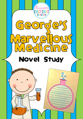 https://www.teacherspayteachers.com/Product/Georges-Marvellous-Medicine-Novel-Study-Chapter-Reading-Responses-266262