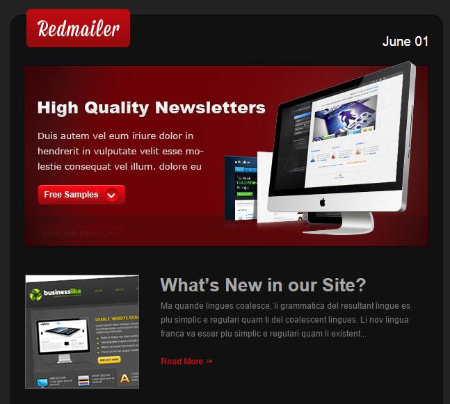 Redmailer – Free Newsletter Template