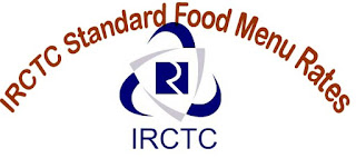 IRCTC Standard Food Menu Rates
