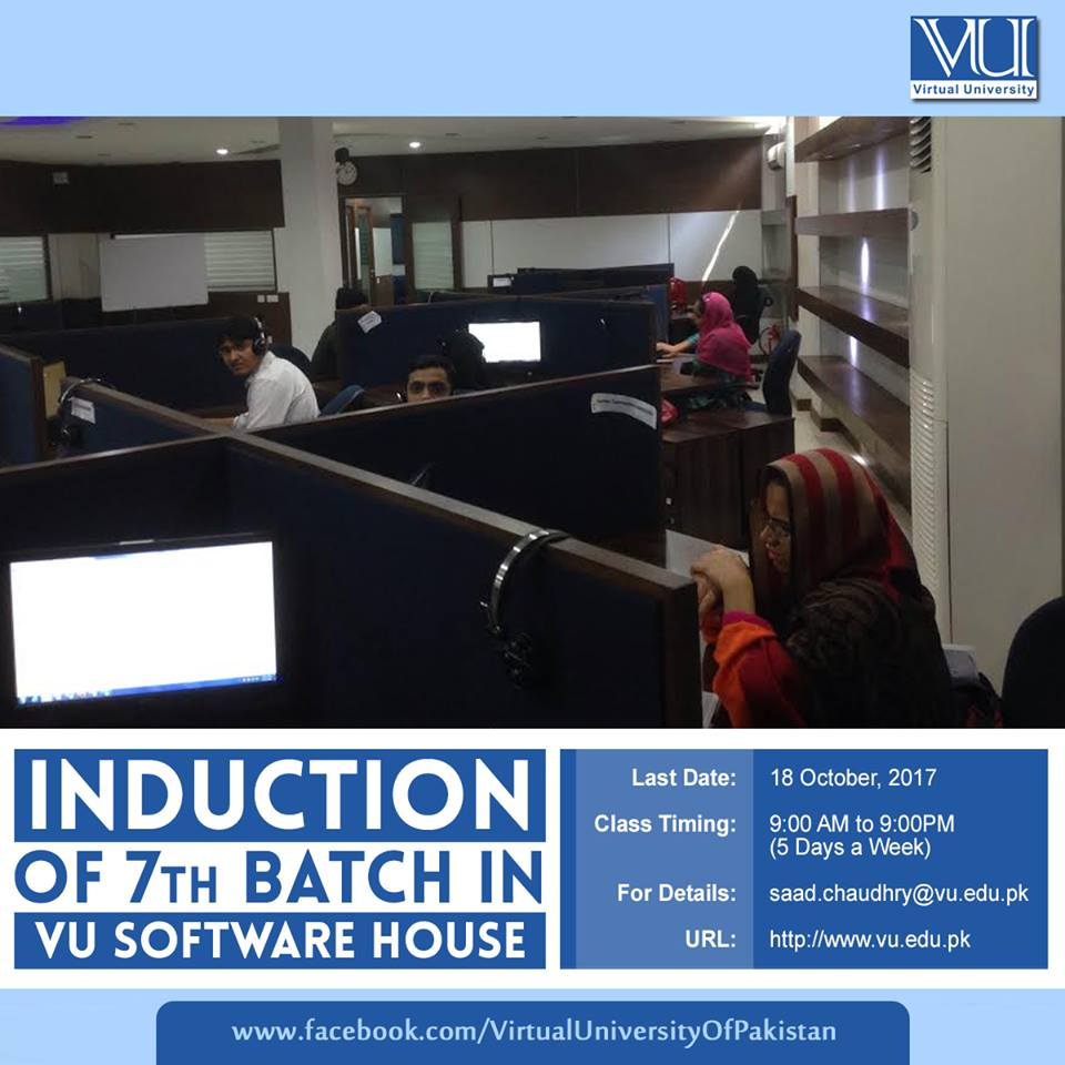 Opportunity to join VU Software House Deadline: October 18, 2017