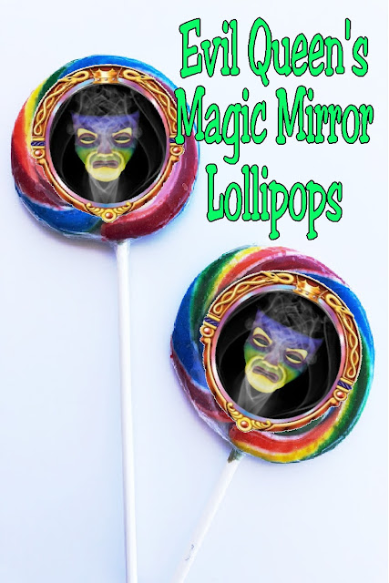 Mirror Mirror on the wall...which is the most evil treat of all? These Magic Mirror lollipops are! Using printable sticker labels and Whirlypop lollipops, you'll have a mirror that can go with you anywhere during your evil Villain party this Halloween.