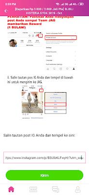 kirim link dari aplikasi JAG Android