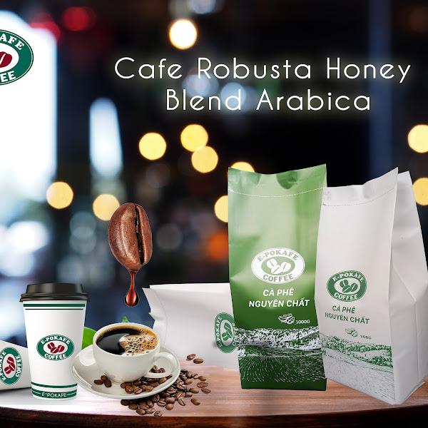 CAFE ROBUSTA HONEY BLEND ARABICA CẦU ĐẤT