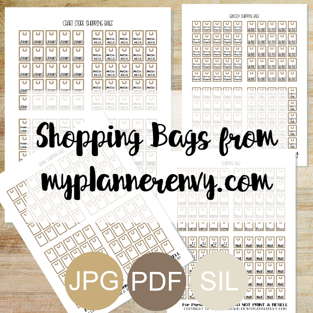 Free Printable Shopping Bags from myplannerenvy.com