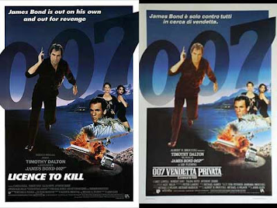 La locandina del film di 007 ''Licence to kill'', in italiano ''Vendetta privata''