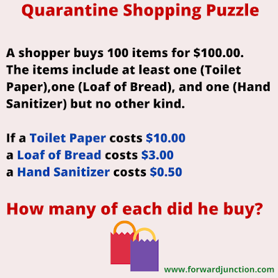 Quarantine Shopping Math Puzzle