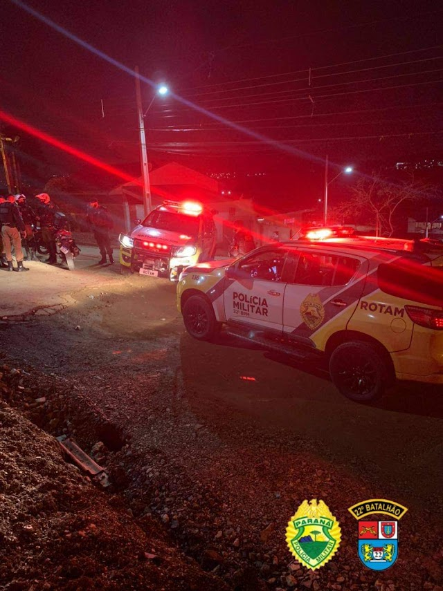 """Polícia Militar faz operação para acabar com o """"fervo"""" no Parque Linear de Colombo"""