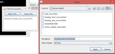 Java Open Dialogbox
