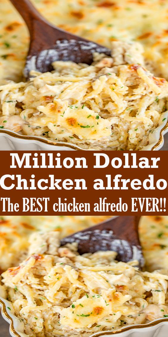Million Dollar Chicken alfredo #food #dinner #chicken