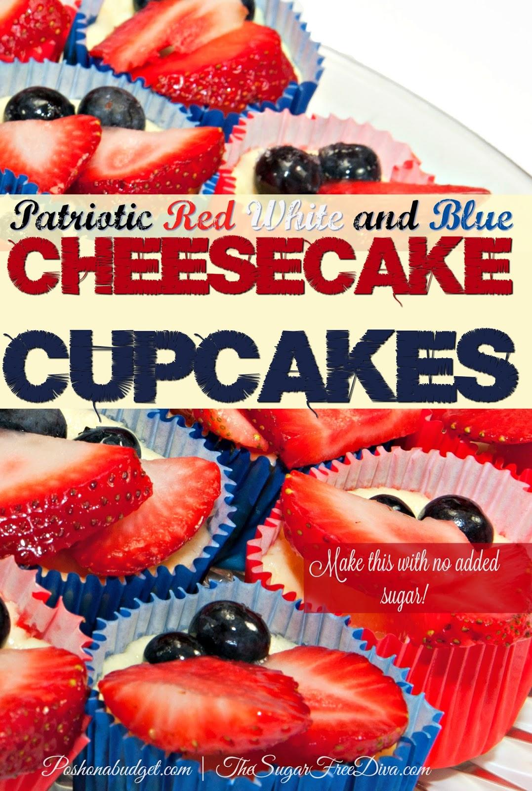 patriotic  cheesecake cupcakes