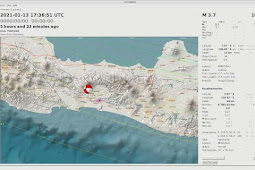 Gempa Kebumen - Banyumas 3,6.  SR Dipicu Sesar Aktif