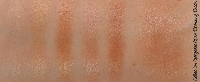 Collection Cosmetics Gorgeous Glow Bronzing Block Swatches & Review