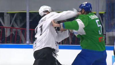 khl hockey fight