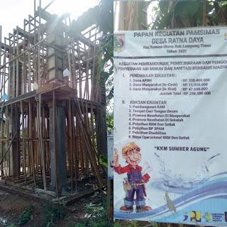 Pembangunan Proyek PAMSIMAS Desa Ratna Daya Telah Terealisasi