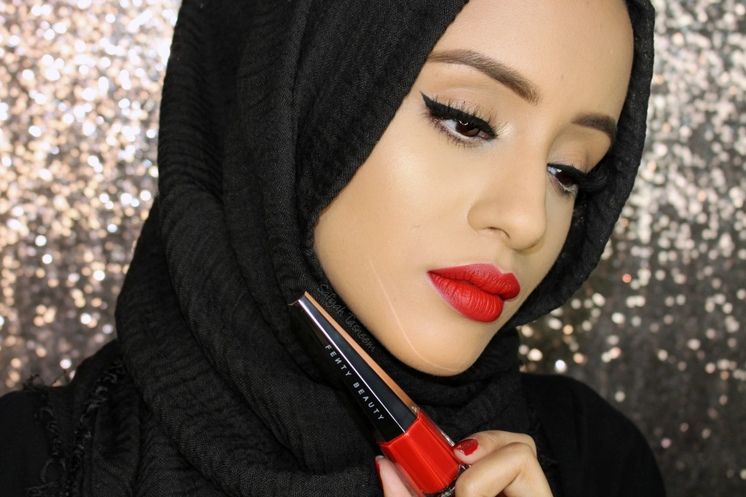 Safiyah Tasneem Sunday Swatches Fenty Beauty Stunna Lip Paint Uncensored