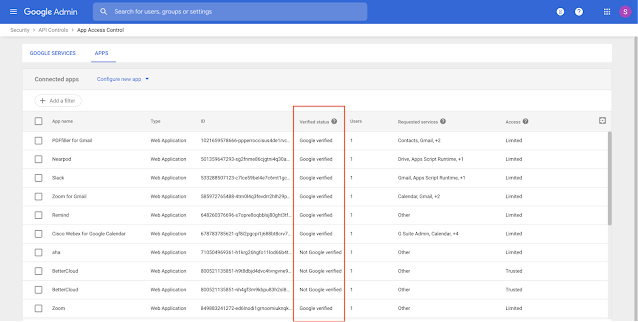 See which apps are Google verified in the Admin console 1