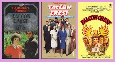 portadas de la novela contemporánea Falcon Crest