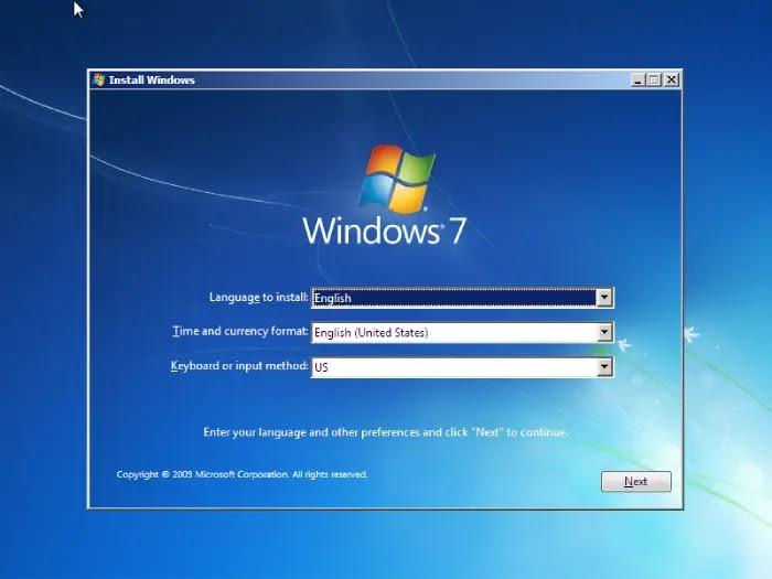 cara instal windows 7 lewat flashdisk dengan rufus