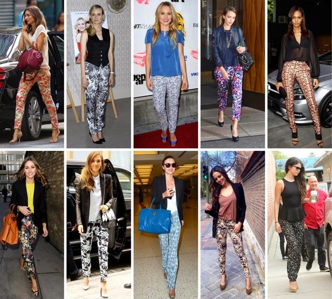 Los pantalones estampados de moda