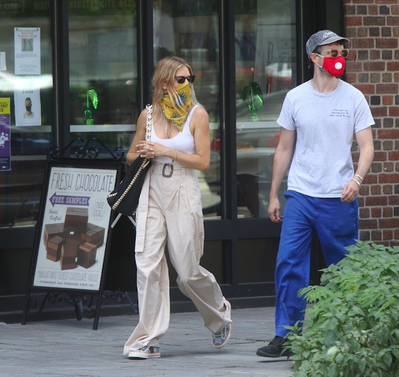 Sienna Miller Clicked Outside  in New York 28 Jul -2020